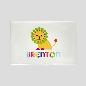 Brenton Loves Lions Rectangle Magnet