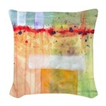 Colorfields Abstract Woven Throw Pillow