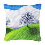 California Spring Woven Throw Pillow