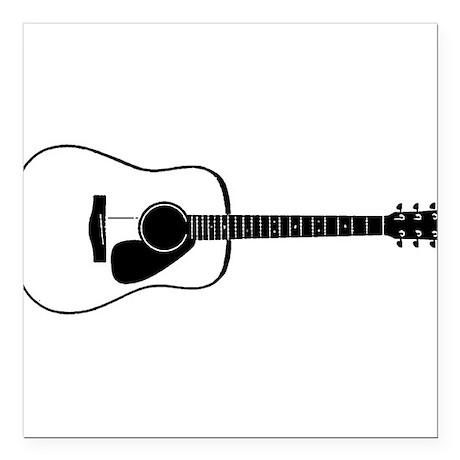 """Acoustic Guitar t-shirt Square Car Magnet 3"""" x 3"""""""