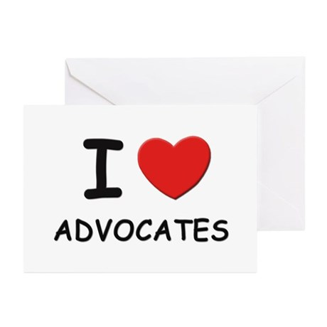 I love advocates Greeting Cards (Pk of 10)