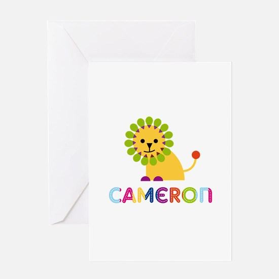 Cameron Loves Lions Greeting Card