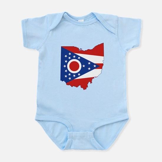 Ohio Flag Infant Bodysuit