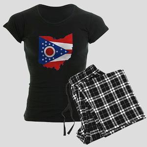 Ohio Flag Women's Dark Pajamas
