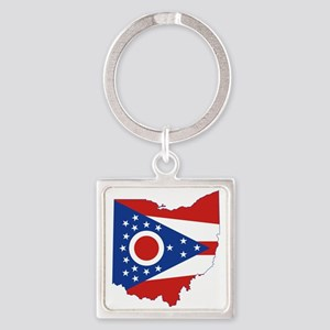 Ohio Flag Square Keychain