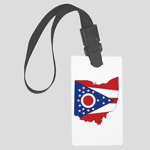 Ohio Flag Large Luggage Tag