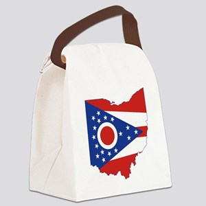 Ohio Flag Canvas Lunch Bag
