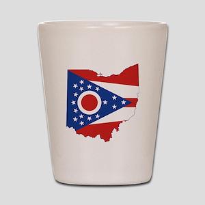 Ohio Flag Shot Glass