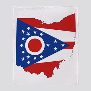 Ohio Flag Throw Blanket