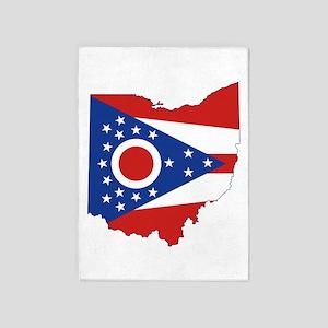 Ohio Flag 5'x7'Area Rug