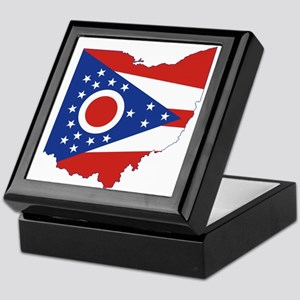 Ohio Flag Keepsake Box