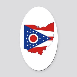 Ohio Flag Oval Car Magnet