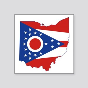 "Ohio Flag Square Sticker 3"" x 3"""