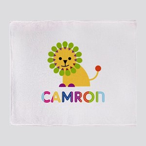 Camron Loves Lions Throw Blanket
