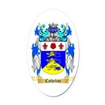 Catheline Oval Car Magnet
