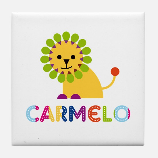 Carmelo Loves Lions Tile Coaster
