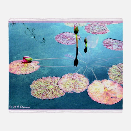 Water Lilies! Nature Photo! Throw Blanket