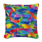 Cosmic Ribbons Woven Throw Pillow