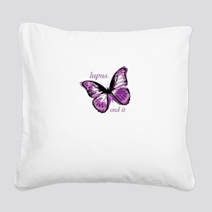 lupus end it Square Canvas Pillow