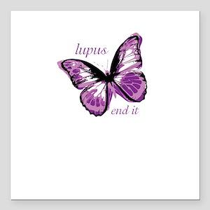 """lupus end it Square Car Magnet 3"""" x 3"""""""