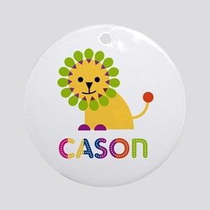 Cason Loves Lions Ornament (Round)