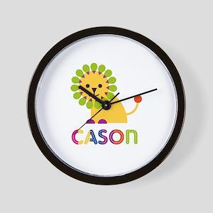 Cason Loves Lions Wall Clock