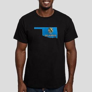 Oklahoma Flag Men's Fitted T-Shirt (dark)