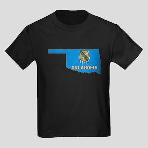 Oklahoma Flag Kids Dark T-Shirt