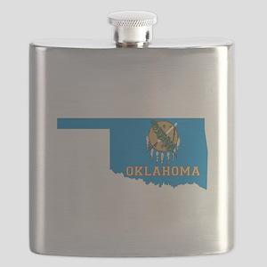Oklahoma Flag Flask