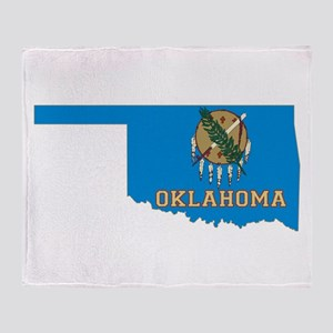 Oklahoma Flag Throw Blanket