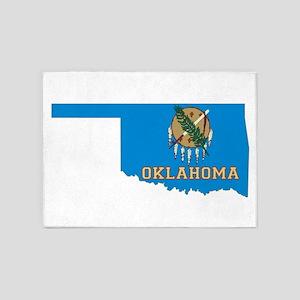 Oklahoma Flag 5'x7'Area Rug