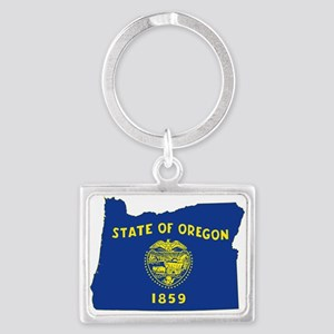 Oregon Flag Landscape Keychain