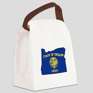 Oregon Flag Canvas Lunch Bag