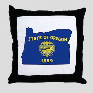 Oregon Flag Throw Pillow