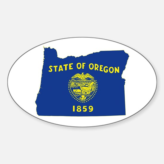 Oregon Flag Sticker (Oval)