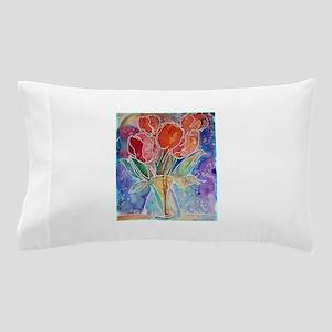 Tulips! Colorful, floral art! Pillow Case