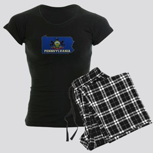 Pennsylvania Flag Women's Dark Pajamas
