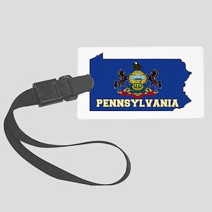Pennsylvania Flag Large Luggage Tag