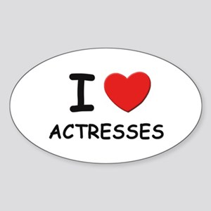 I love actresses Oval Sticker