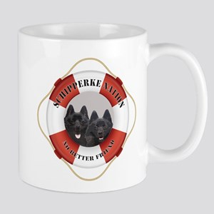 Schipperke Nation life preserver Mug