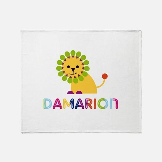 Damarion Loves Lions Throw Blanket