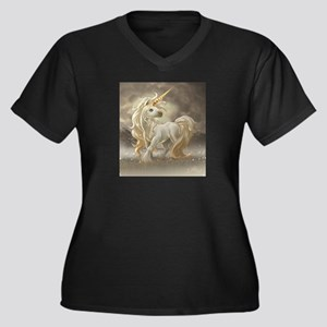 Golden unicorn Plus Size T-Shirt