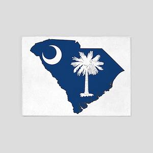 South Carolina Flag 5'x7'Area Rug