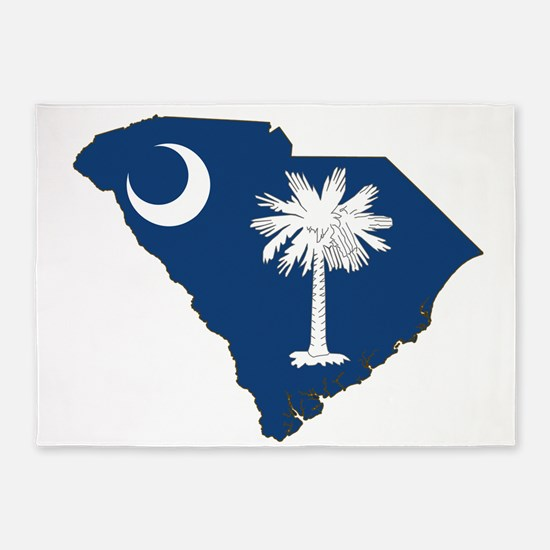 South Carolina Flag 5'x7'Area Rug