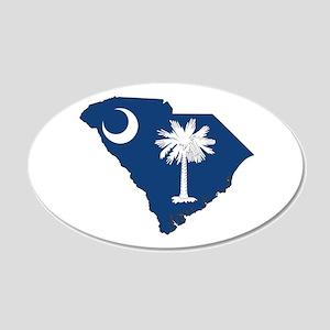 South Carolina Flag 20x12 Oval Wall Decal