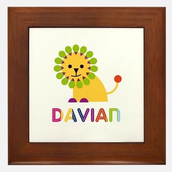Davian Loves Lions Framed Tile