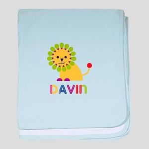 Davin Loves Lions baby blanket