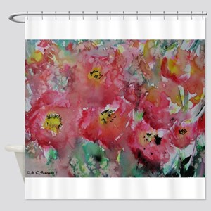 Poppies! Floral art! Shower Curtain