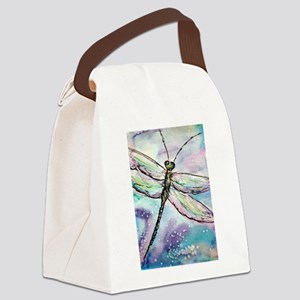 Dragonfly! Nature art! Canvas Lunch Bag
