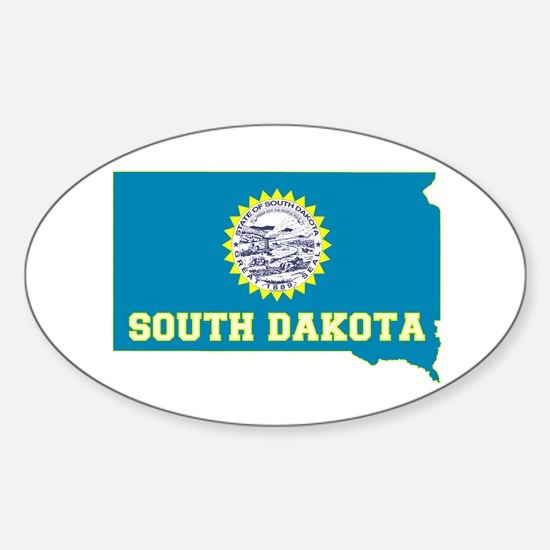 South Dakota Sticker (Oval)